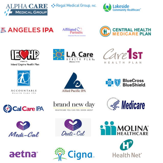 Logos of Healthcare Insurance Plans